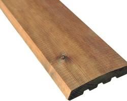 LAME DE TERRASSE SANTORIN cl.4  teintée marron  dimensions : ép 28mm x l 145mm - L 4m