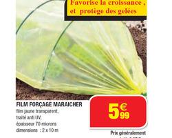 FILM FORÇAGE MARAICHER