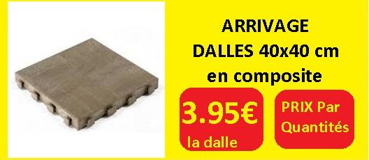 ARRIVAGE DALLE COMPOSITE 40x40cm